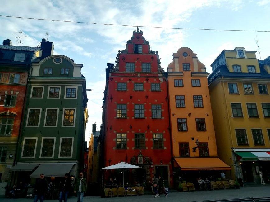 Bunte Häuser Gamla Stan Stockholm