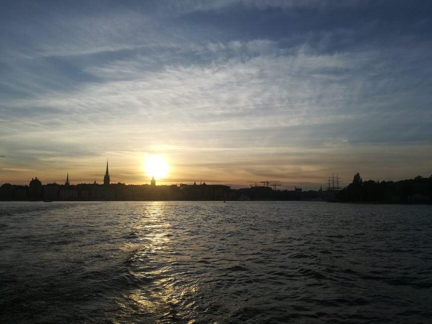 Stockholm Sonnenuntergang